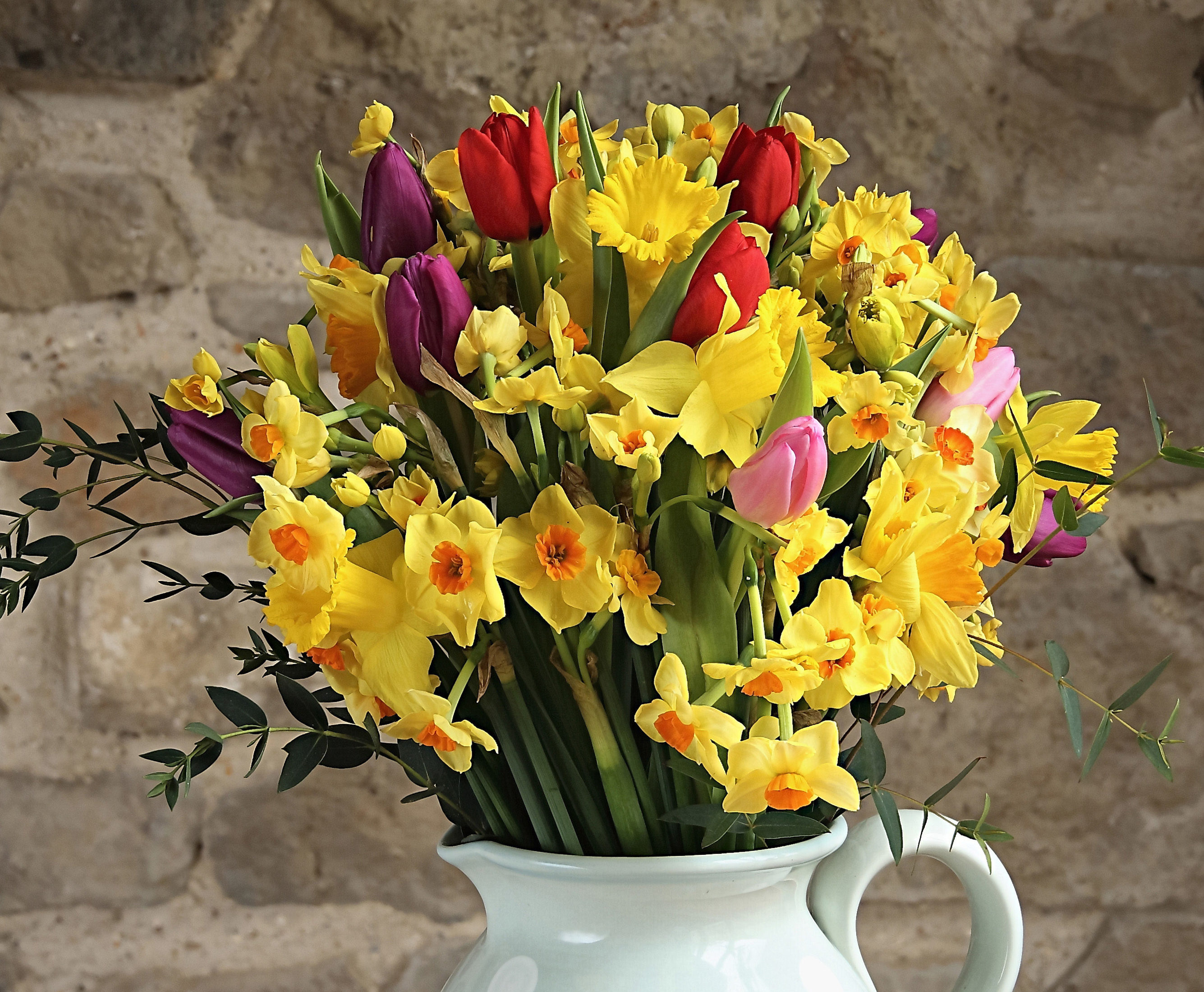 Flower subscription cornish blooms subscription flowers summer mixed cornish flower bunch daffodils tulips and narcissi izmirmasajfo